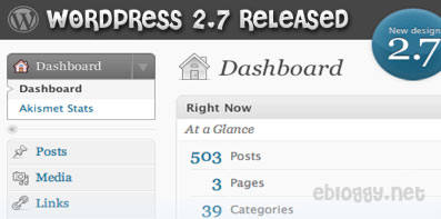Wordpress 2.7 New and Improved Dashboard