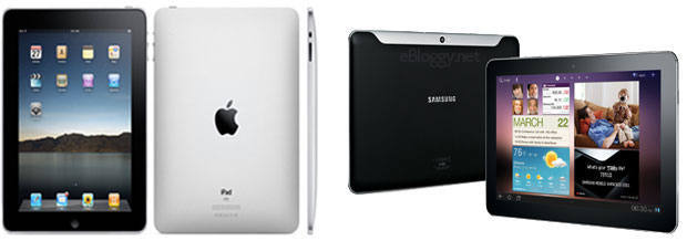 Apple iPad 2 and Samsung Galaxy Tab 10.1