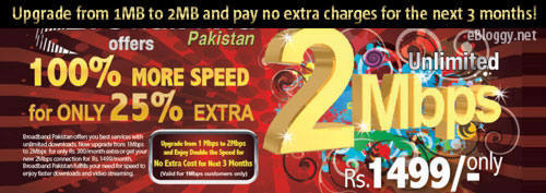 PTCL Broadband DSL 2MB Package Offer