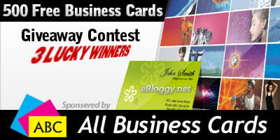3 Sets of 500 Free Business Cards Giveaway By ABC